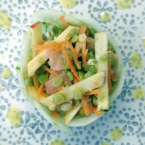 Salade pois cassés saumon pomme
