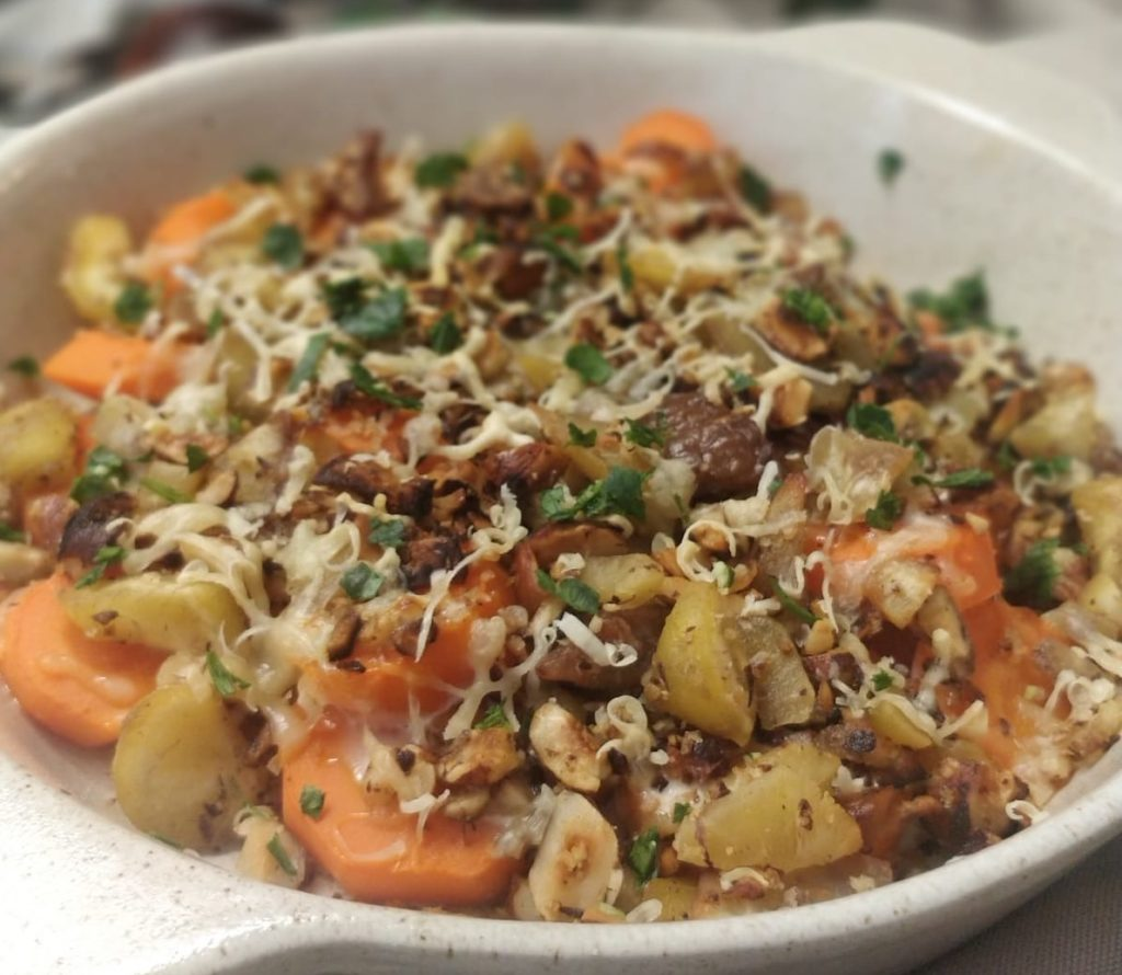 carottes croustillantes noisettes chataignes