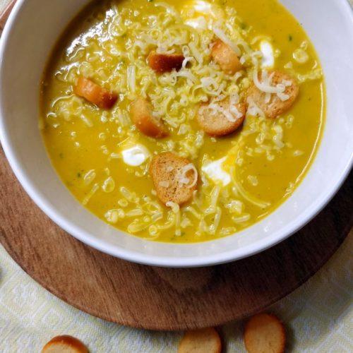 soupe carotte courgette gingembre coriandre