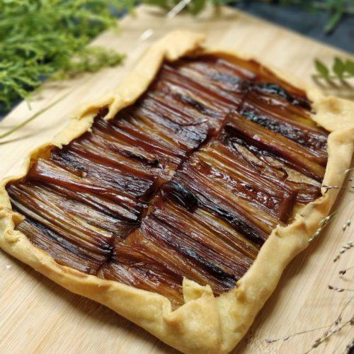 tarte poireaux caramelisés porto
