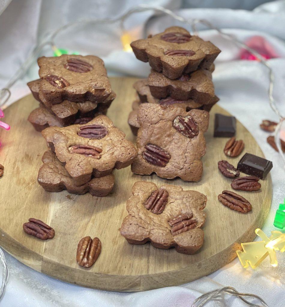 Brownie chocolat, praliné et noix de pécan
