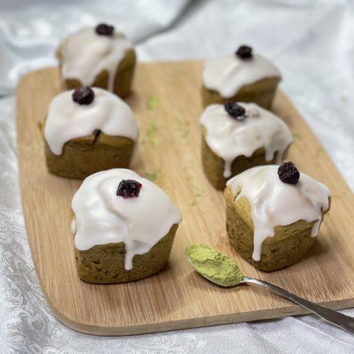 cake matcha cranberries