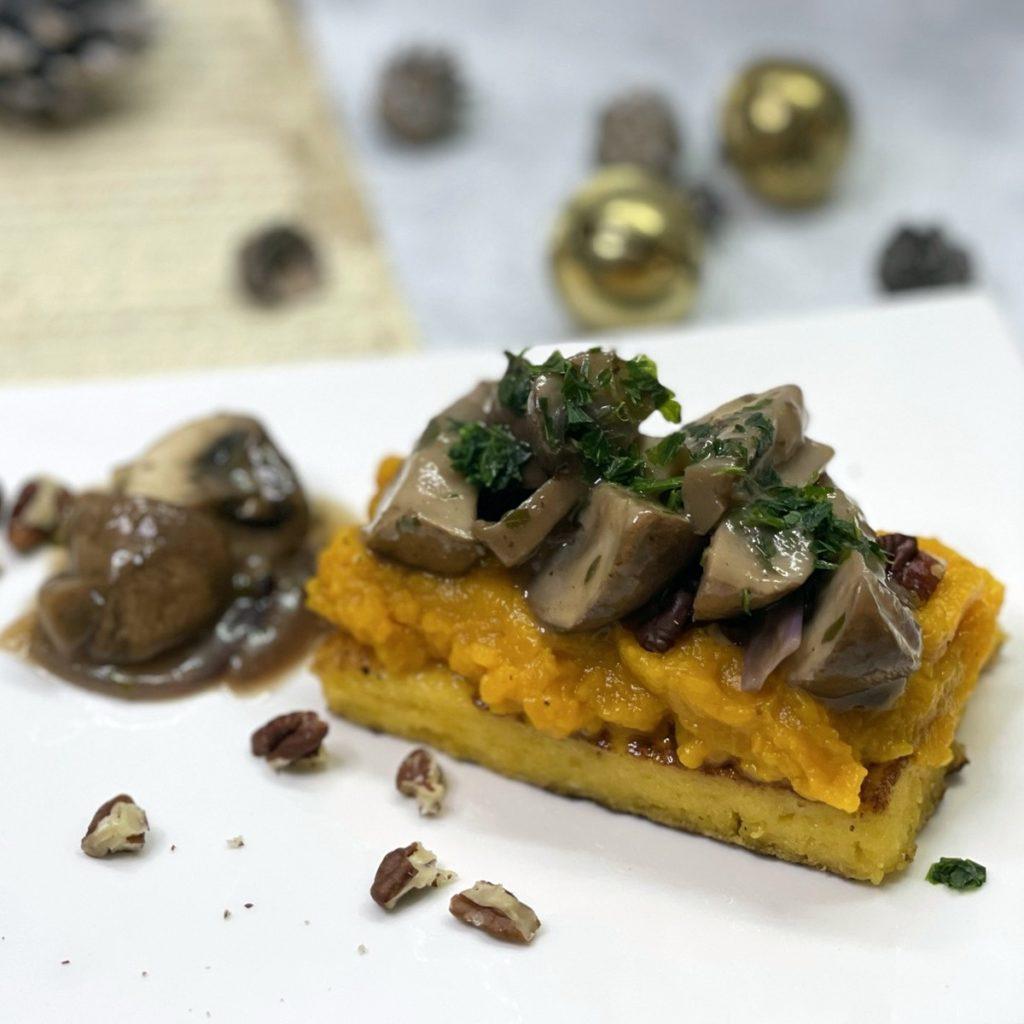 Butternut champignons moelleux croquant