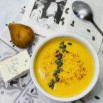 Une soupe de butternut, poire, carotte et bleu