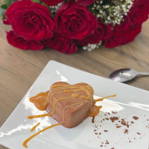 Mousse chocolat caramel coulant