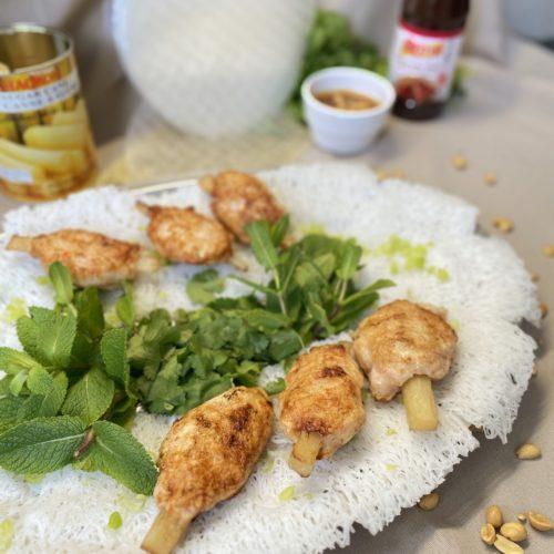 chao tom Brochettes de crevettes vietnamienne