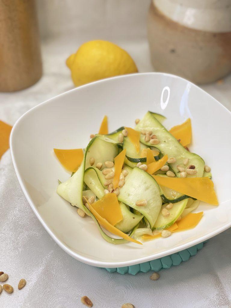 Salade courgettes marinées citron