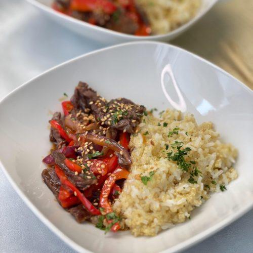boeuf teriyaki riz quinoa