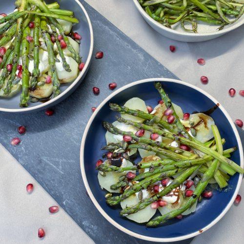 Salade Asperges pommes de terre grenade