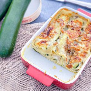 lasagnes végétariennes courgettes camembert